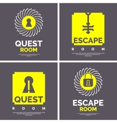 The emblem for the quest room vector