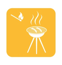 Barbecue sausage icon vector