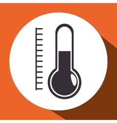Thermometer measure isolated icon vector