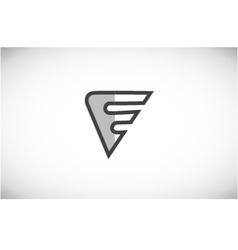 Alphabet letter f black white grey logo icon desi vector