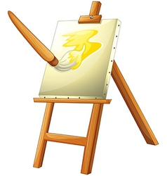A painting board vector
