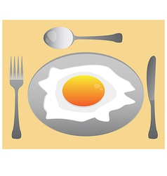 eat egg vector image