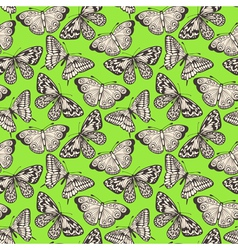Seamless background with butterflies vector