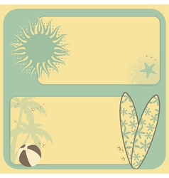 summer retro background vector image