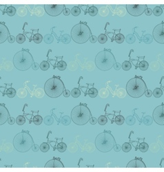 Seamless bicycle background vector