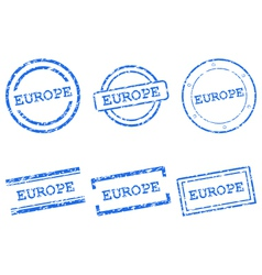Europe stamps vector