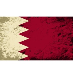 Bahrain flag grunge background vector