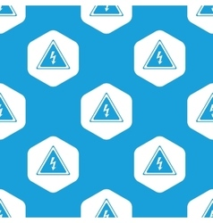 High voltage hexagon pattern vector