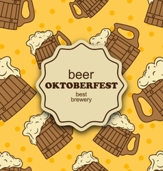 Greeting card for oktoberfest party vector