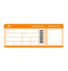 Yellow boarding pass vector
