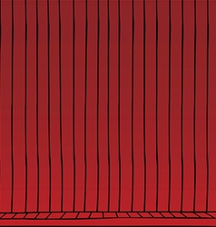 Red curtain cartoon vector