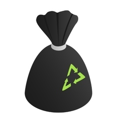 Black rubbish bag vector