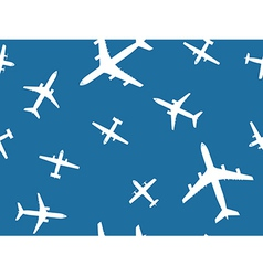Airplanes pattern vector image