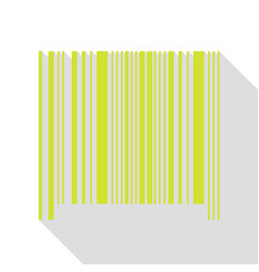 Bar code sign pear icon with flat style shadow vector