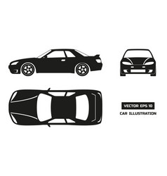 black silhouette of the car on a white background vector image