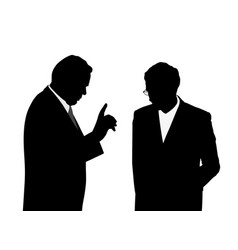 boss giving order or warning his employee vector image