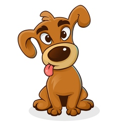 Cartoon funny dog vector image