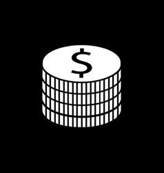 coins solid icon finance and business vector image vector image