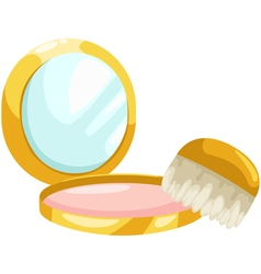 Cosmetic powder vector