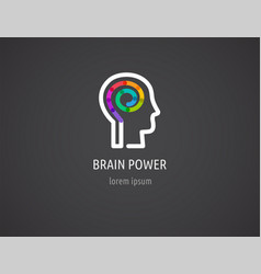 Creative colorful logo human head mind brain vector