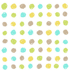 cute dots background vector image vector image