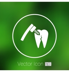 Dental treatment tool icon care drilling tooth vector
