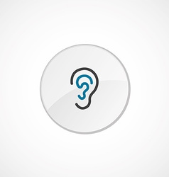 Ear icon 2 colored vector