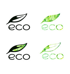 eco logo collection vector image