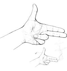 fingers shoot vector image