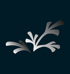 flat leaves logo template vector image vector image