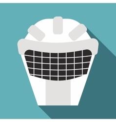 Goalkeeper mask icon flat style vector