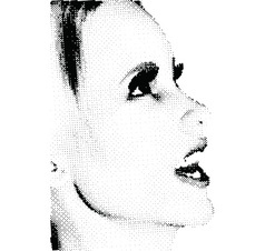 halftone female face vector image vector image