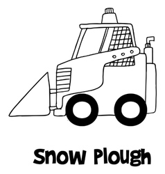 Hand draw of snow plough vector