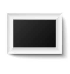 Horyzontal white a4 wooden frame vector