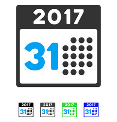 Last 2017 month day flat icon vector