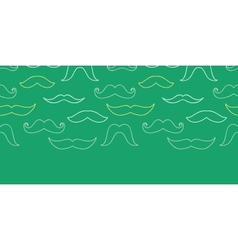 Line art mustaches horizontal seamless pattern vector image