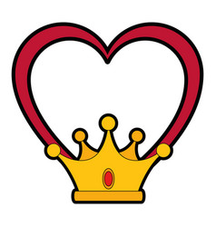 Luxury king crown vector