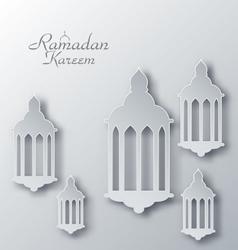 Paper Arabic Lamps with Shadows for Ramadan Kareem vector image vector image