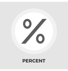 Percent sign flat icon vector image