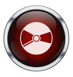 Red honeycomb music cd icon vector image vector image