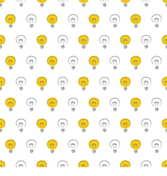 Seamless light bulbs pattern texture background vector image vector image