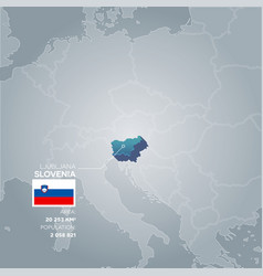 Slovenia information map vector