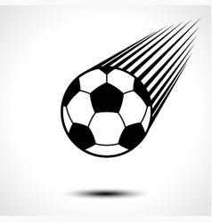 soccer ball or football speeding through the air vector image vector image