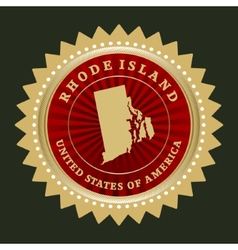 Star label rhode island vector