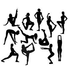 stretching activity vector image