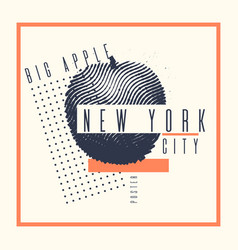Stylish poster new york the big apple on abstract vector