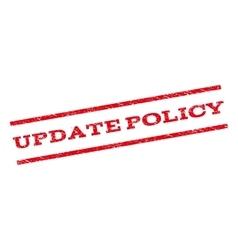 Update Policy Watermark Stamp vector image vector image