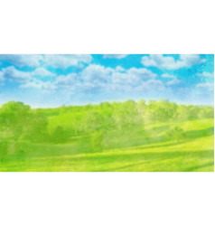 Watercolor landscape on white vector