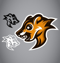 Wild Squirrel head brown logo 2901 vector image