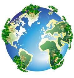 Worldwide resort isolated vector image